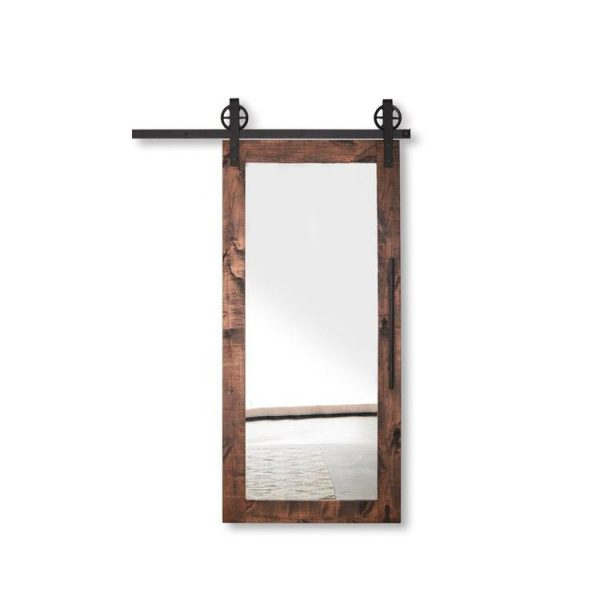 China WDMA Wood Veneer With Mdf Mirrored Barn Doors Price