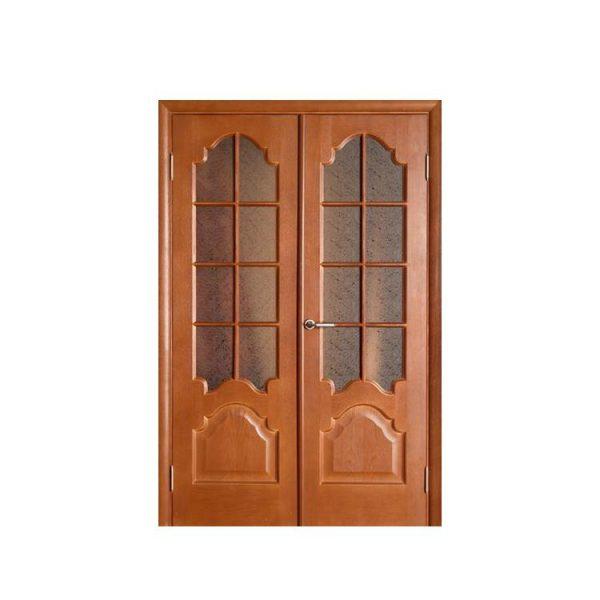 China WDMA Wooden Polish Door Grill Design In Uae