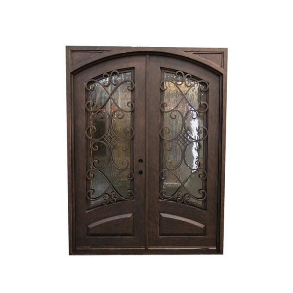 WDMA wrought iron single entry door