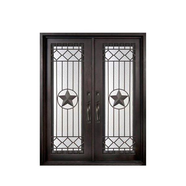 WDMA wrought iron single entry door Steel Door Wrought Iron Door