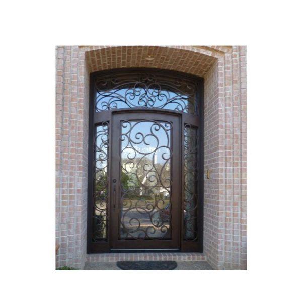 China WDMA wrought iron single entry door