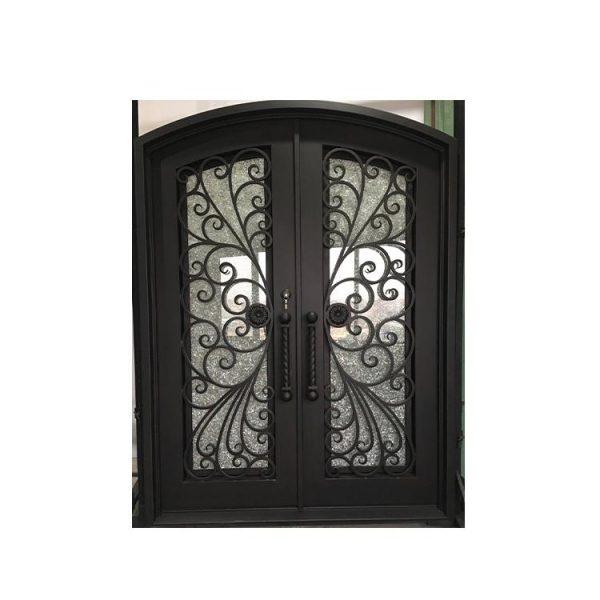 China WDMA wrought iron single entry door Steel Door Wrought Iron Door